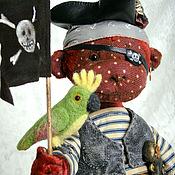 Куклы и игрушки ручной работы. Ярмарка Мастеров - ручная работа He is a pirate... Обезьянка-тедди (друг тедди мишек). Handmade.