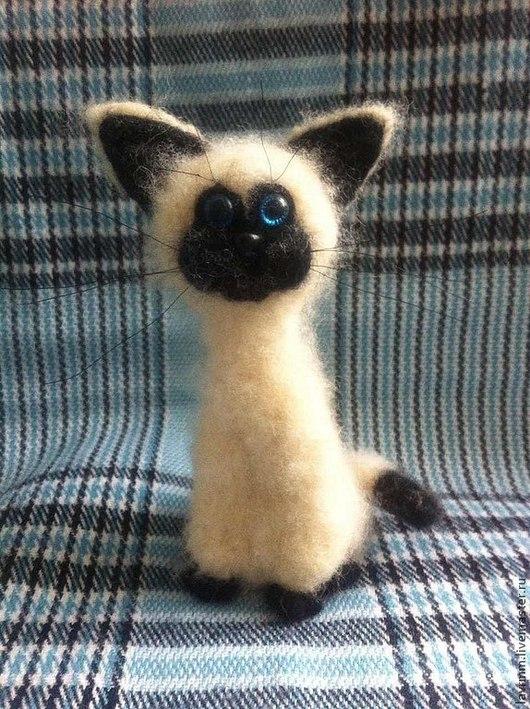 Игрушки животные, ручной работы. Ярмарка Мастеров - ручная работа. Купить Котик mini iCat. Handmade. Чёрно-белый, котик