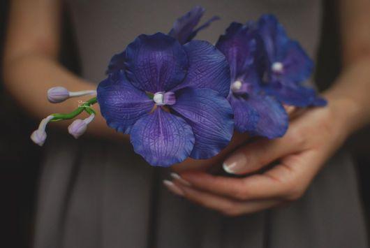 Цветы ручной работы. Ярмарка Мастеров - ручная работа. Купить Королева Ванда. Handmade. Тёмно-фиолетовый, керамическая флористика, подарок