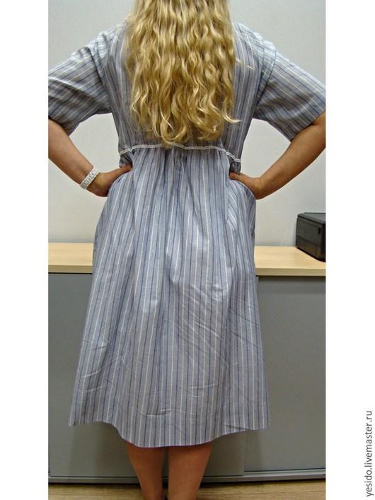 """Платья ручной работы. Ярмарка Мастеров - ручная работа. Купить Хлопковое платье """"Полесье"""". Handmade. Голубой, винтаж, кружева хлопок"""