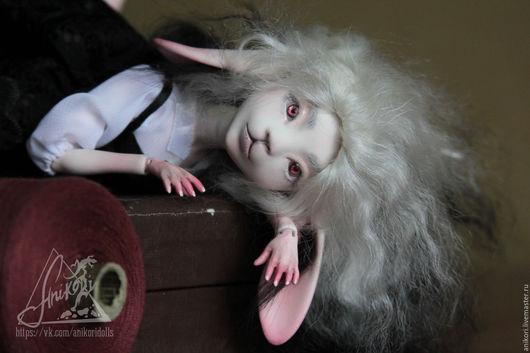 Коллекционные куклы ручной работы. Ярмарка Мастеров - ручная работа. Купить Шарнирная зайка Скарлетт кукла BJD. Handmade. Черный