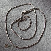 Материалы для творчества handmade. Livemaster - original item Chain with a lock on the neck under, dark silver, 40 cm. Handmade.