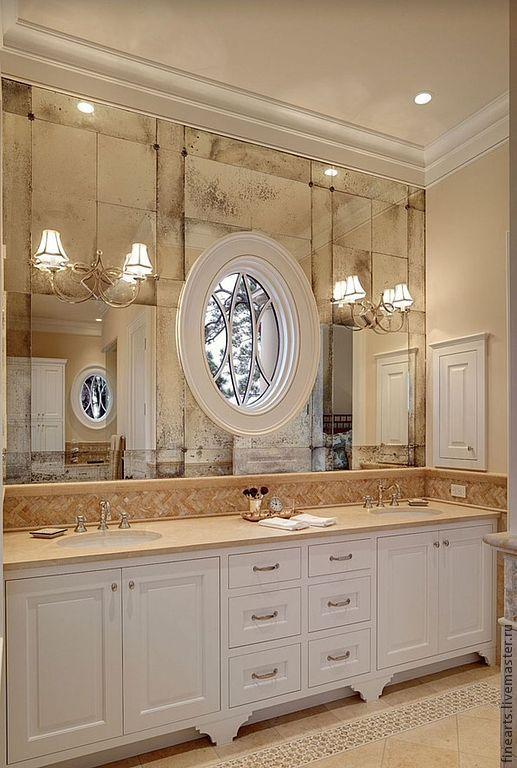 Зеркала ручной работы. Ярмарка Мастеров - ручная работа. Купить Декорированные зеркала и состаривание. Handmade. Черный, спальня, состаривание зеркала