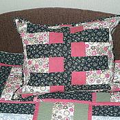 """Для дома и интерьера ручной работы. Ярмарка Мастеров - ручная работа лоскутная наволочка на диванную подушку   """"Дачная"""". Handmade."""