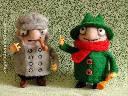 Сказочные персонажи ручной работы. Ярмарка Мастеров - ручная работа. Купить валяшки Колобки. Handmade. Мультяшки, сыщики, шеф, шерсть