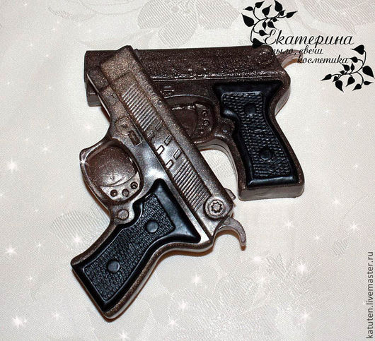 Мыло ручной работы. Ярмарка Мастеров - ручная работа. Купить Мыло Пистолет. Handmade. Коричневый, мыло в подарок, мыло