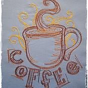 """Для дома и интерьера ручной работы. Ярмарка Мастеров - ручная работа Фартук для хозяюшки """"Утренний кофе"""". Handmade."""