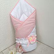 Работы для детей, ручной работы. Ярмарка Мастеров - ручная работа Одеяло-Конверт на выписку для девочки .. Handmade.