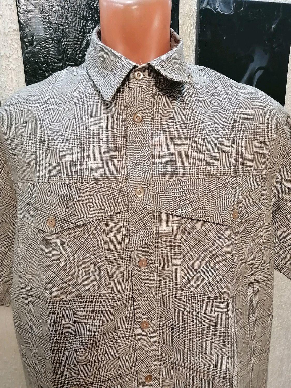 Рубашка лен 100% р-р 44(56), 45(58), Рубашки мужские, Кострома,  Фото №1