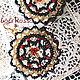Beadwork earrings `Marisol` handmade by Loli Rosso. Ручная работа. Купить серьги плетеные `Марисоль`.