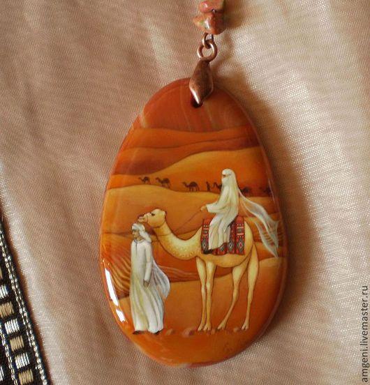 """Кулоны, подвески ручной работы. Ярмарка Мастеров - ручная работа. Купить Кулон """"Пески любви"""". Handmade. Оранжевый, пески, любовь"""