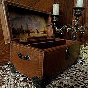 Для дома и интерьера ручной работы. Ярмарка Мастеров - ручная работа Шкатулка , купюрница  двойная. Handmade.