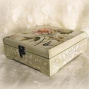 Для дома и интерьера ручной работы. Ярмарка Мастеров - ручная работа шкатулка Цветы Франции. Handmade.