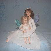 Куклы и игрушки ручной работы. Ярмарка Мастеров - ручная работа мама и дочка(портретная кукла). Handmade.