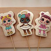Пряники ручной работы. Ярмарка Мастеров - ручная работа Пряники: куклы лол. Handmade.
