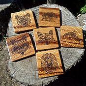 Для дома и интерьера handmade. Livemaster - original item Coasters. Burning. Handmade.