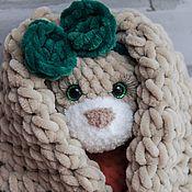Мягкие игрушки ручной работы. Ярмарка Мастеров - ручная работа Зайка в платье - подарок для девочки. Handmade.