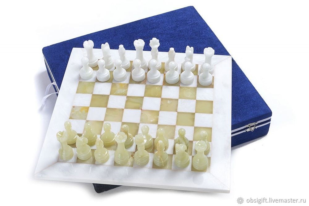 Chess made of stone Marble and Onyx 30, PakShah, Chess, St. Petersburg,  Фото №1