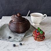 Посуда handmade. Livemaster - original item The jug (barrel) of textured pine K39. Handmade.