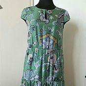 Одежда ручной работы. Ярмарка Мастеров - ручная работа 335: летнее платье ярусами, длинное платье на лето, платьев пол. Handmade.