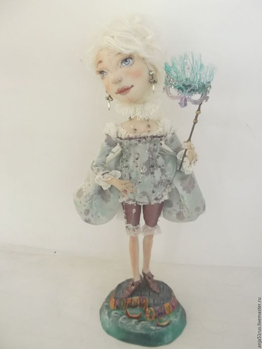 Коллекционные куклы ручной работы. Ярмарка Мастеров - ручная работа. Купить Венецианская куртизанка Элеттра-Лучиана. Handmade. Мятный