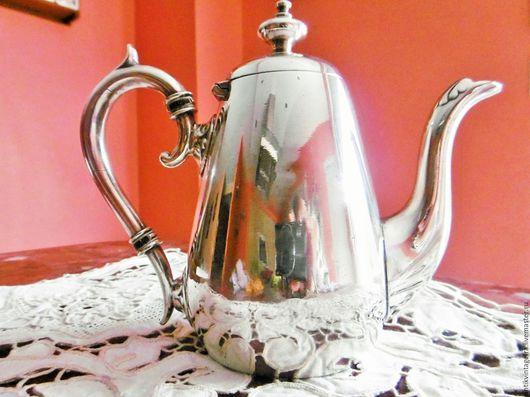 Винтажная посуда. Ярмарка Мастеров - ручная работа. Купить Старинный кофейник Anglais посеребрение 50 годы ХХ века Англия. Handmade.
