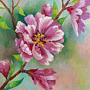 """Картины и панно ручной работы. Ярмарка Мастеров - ручная работа """"Цветущая вишня"""". Handmade."""