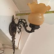 Винтаж ручной работы. Ярмарка Мастеров - ручная работа Настенная винтажная лампа с бронзой. Handmade.