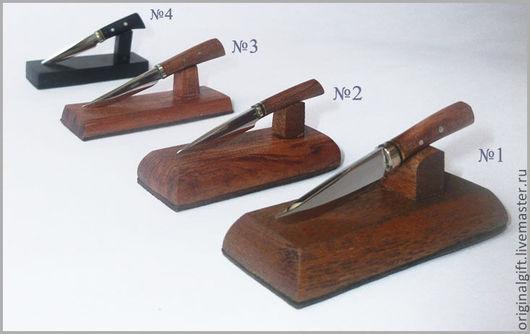 Миниатюрные модели ручной работы. Ярмарка Мастеров - ручная работа. Купить Микро-ножи на подставке.. Handmade. Коричневый, нож, дерево
