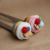 """Посуда ручной работы. Ярмарка Мастеров - ручная работа Вкусная  длинная ложка с декором """"Капкейк"""". Handmade."""