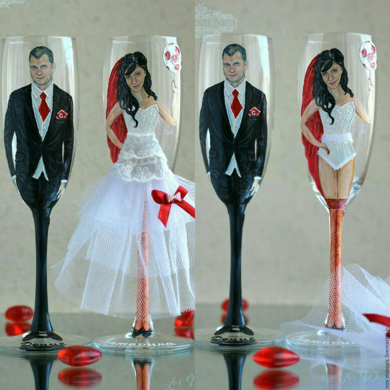 Свадебные бокалы своими руками фото пошагово жених невеста 30