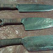 Комплект цельнокованых ножей Tres Fratres из советской рессорной стали