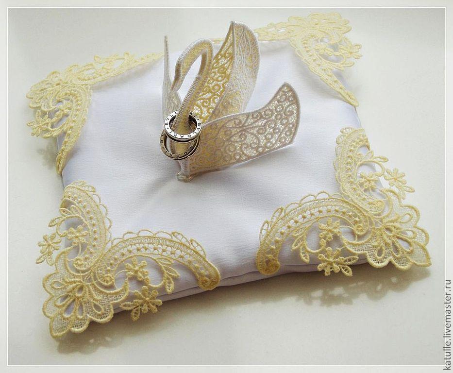 свадебные подушечки для колец фото