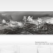 Картины и панно handmade. Livemaster - original item Photo picture mountains, long picture nature black and white landscape panorama. Handmade.