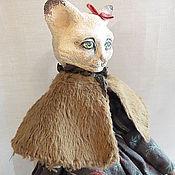Куклы и игрушки ручной работы. Ярмарка Мастеров - ручная работа Кошка - путешественница. Handmade.