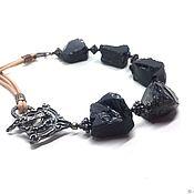 Украшения handmade. Livemaster - original item Choker Chernyakina.Obsidian is natural,accessories Anna Black,TierrCast. Handmade.