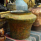 Винтаж ручной работы. Ярмарка Мастеров - ручная работа Старинная медная корчага (сыпник, водник) на 20 литров в оригинальном. Handmade.