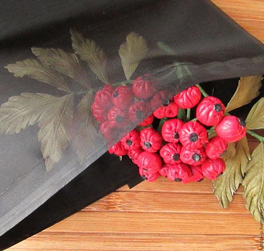 Органза черная. Японская ткань для цветов. САКУРА - материалы для цветоделия.