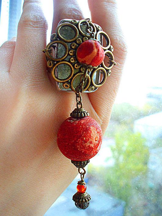 """Кольца ручной работы. Ярмарка Мастеров - ручная работа. Купить Кольцо """"Красный бархат"""". Handmade. Красный, кольцо"""