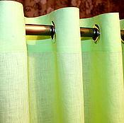 Для дома и интерьера ручной работы. Ярмарка Мастеров - ручная работа Шторы на люверсах  цветочные в желто-салатовых тонах. Handmade.