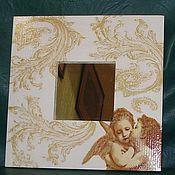 """Для дома и интерьера ручной работы. Ярмарка Мастеров - ручная работа Зеркало """"Ангел"""". Handmade."""