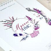 Аксессуары для вышивки ручной работы. Ярмарка Мастеров - ручная работа Блокноты учёта ниток мулине «Фрезия». Handmade.
