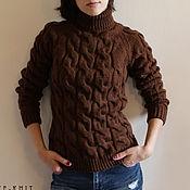 Одежда handmade. Livemaster - original item Knitted sweater womens brown. Handmade.