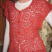 Одежда ручной работы. Ярмарка Мастеров - ручная работа Шаль-жилет.. Handmade.