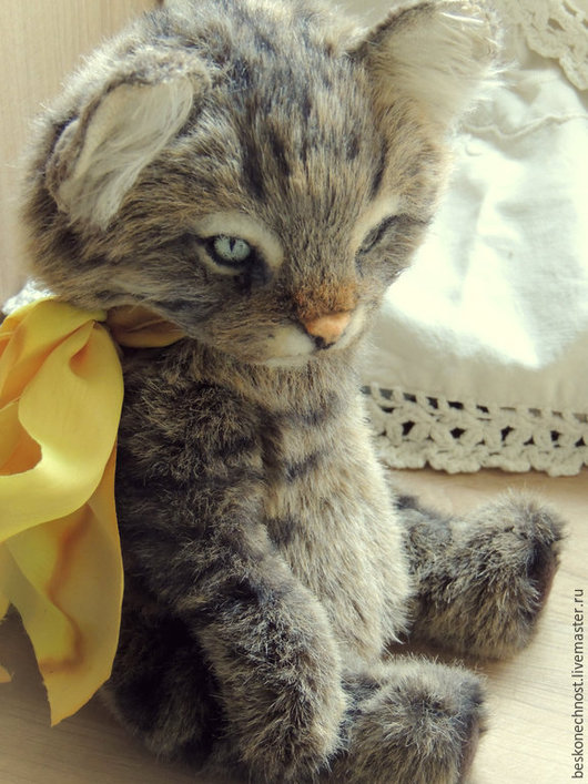 Мишки Тедди ручной работы. Ярмарка Мастеров - ручная работа. Купить Кот Ozzy. Кот тедди. Портрет кота.. Handmade.