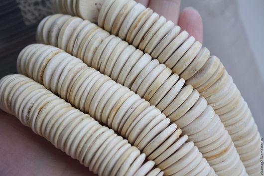 Для украшений ручной работы. Ярмарка Мастеров - ручная работа. Купить Кокосовые диски отбеленные  20 мм. Handmade. Кокос