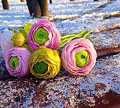 Цветы и флористика ручной работы. Ярмарка Мастеров - ручная работа Ранункулюсы. Handmade.