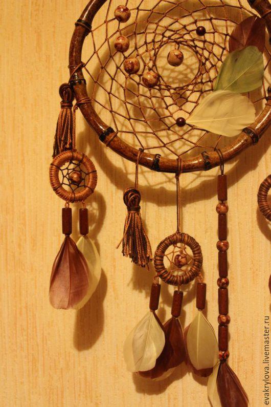 """Ловцы снов ручной работы. Ярмарка Мастеров - ручная работа. Купить Ловец снов """"Бамбук"""". Handmade. Коричневый, бусины деревянные"""