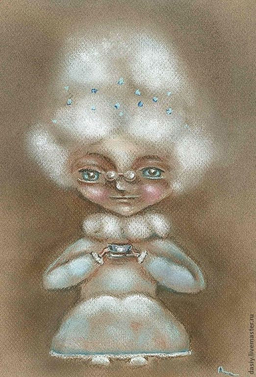 """Фэнтези ручной работы. Ярмарка Мастеров - ручная работа. Купить Картина пастелью """"Время пить чай"""". Handmade. Картина в подарок"""