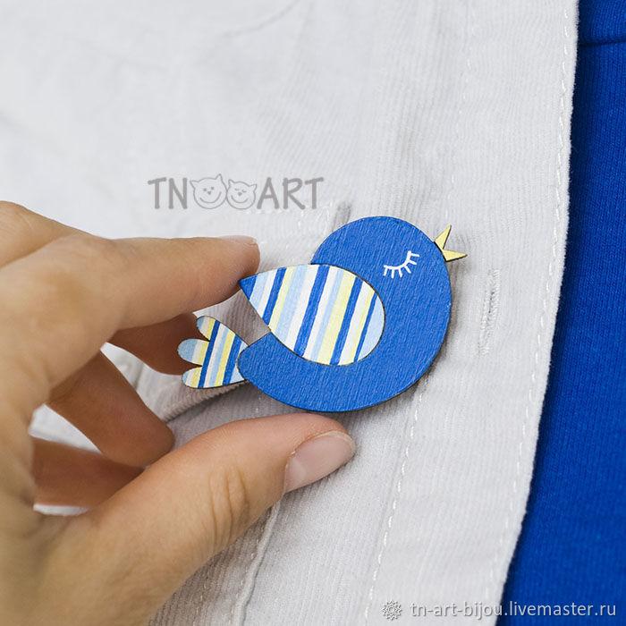 'Songbird' - brooch handmade, Brooches, Sochi,  Фото №1